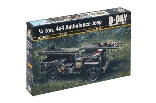 Italeri 0326 - ambulance jeep model kit  scala 1:35