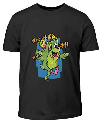 Zombie Bär,Horror, Tiere,Halloween - Kinder T-Shirt -9/11 (134/146)-Schwarz (Kinder Halloween Lädt)
