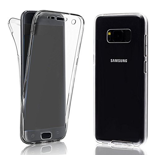 EximMobile 360° Full Handyhülle für Samsung Galaxy S7 Edge | Case für vorne und hinten | Silikon Schutzhülle | Handytasche mit beidseitigem Schutz | Cover in transparent | Handy Tasche Etui Hülle