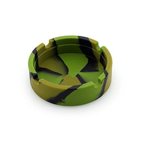 MAXGOODS 5 Pezzi Posacenere Rotondo Resistente Termoresistente Di Alta Temperatura Della Gomma Di Silicone Eccellente Ecologica Di Colorato.Colore Verde