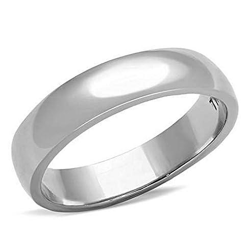 Ah! Jewellery Unisex 4mm Plain Wedding Ring Band 316 Steel Stamped. Never Tarnish, Lifetime Guarantee.