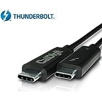 CalDigit Thunderbolt 3-Kabel (1,0 m) 40Gbps / Laden bei 100W / 5A / 20V / Aktiv [Zertifiziert] 2016 MacBook Pro Typ-C-kompatibel