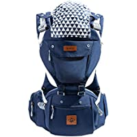 Bebehive 6-in-1 Baby Carrier with Hip Seat | All Season Sling for Newborn to Toddler (6-36 Months) | Ergonomic Support with Front and Back Facing | Free Drool Pads & Baby on Board Sticker