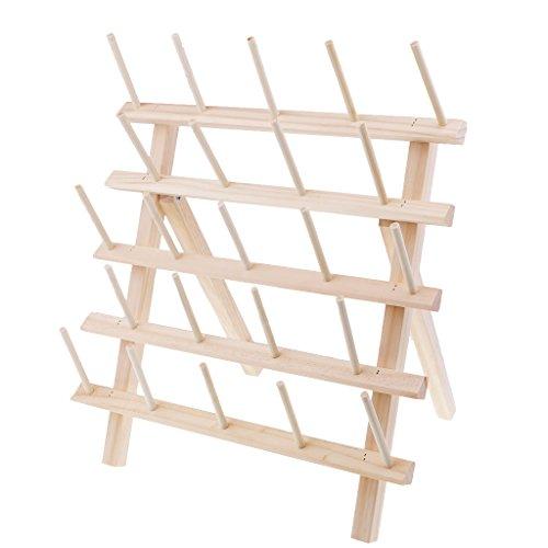 B Blesiya Spulenhalter Garnrollenhalter Garnaufbewahrung Nähaufbewahrung Holz Halter Ständer für 23 Spulen