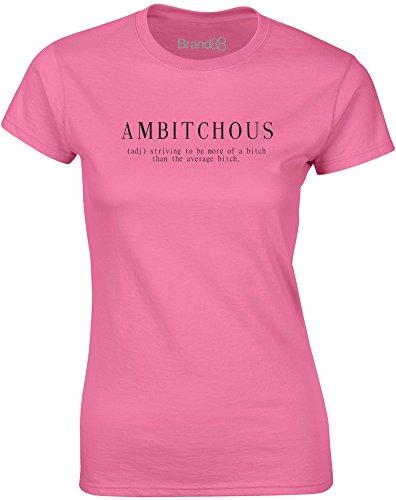 Brand88 - Amb*tchous, Mesdames T-shirt imprimé Azalée/Noir
