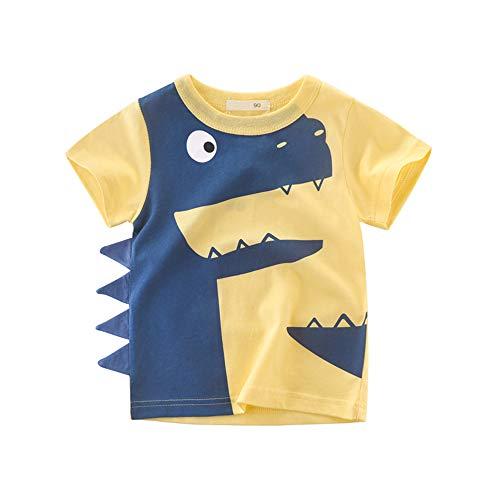 rzen Ärmeln Tops Kinder Cartoon Tiere T-Shirts Kinder Sommer Casual Tee ()