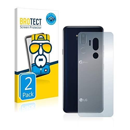 2X BROTECT Flex Full-Cover Displayschutz Schutfolie für LG G7 ThinQ (Rückseite) (kristallklar, Edge to Edge, Self-Healing, stoßabsorbierend) - Cover Lg Flex 2