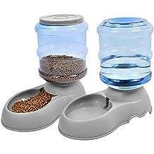 Umi. Essentials Set Automatico di mangime per Animali Domestici per Cani/Gatti - Dispenser di Cibo e Acqua per Animali Domestici in 2 Pezzi