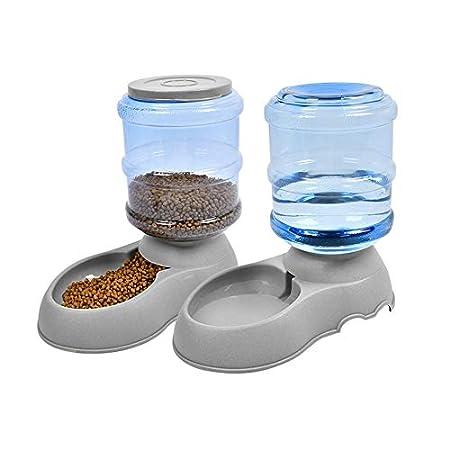 Umi. Essentials Futterautomatenset für Katzen/Hunde – 2-teiliger Futter- und Wasserspender für Haustiere