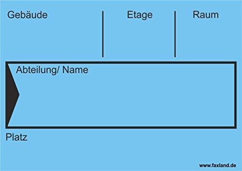 40x Umzugetiketten Nr.4, 105x74, Beschriftung mit Etiketten vom Umzugskarton für den Umzug, Umzugsetiketten, Blau thumbnail
