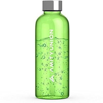 """AMITYUNION Trinkflasche """"Lija"""" 600ml - Sportflasche auslaufsicher - Spülmaschinen fest - Weichmacher FREI - BPA FREI aus Tritan Kunststoff Sport Wasserflasche - Klein und Bruchsicher auch für Kinder"""