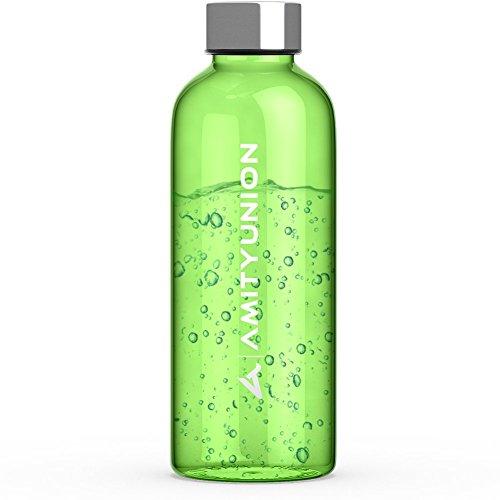 """Trinkflasche \""""LIJA\"""" 600ml - Sportflasche aus Tritan - Auslaufsicher und Spülmaschinenfest - Sporttrinkflasche, Fahrradflasche, Wasserflasche mit Edelstahl-Deckel - Weichmacher FREI, BPA FREI in Grün"""