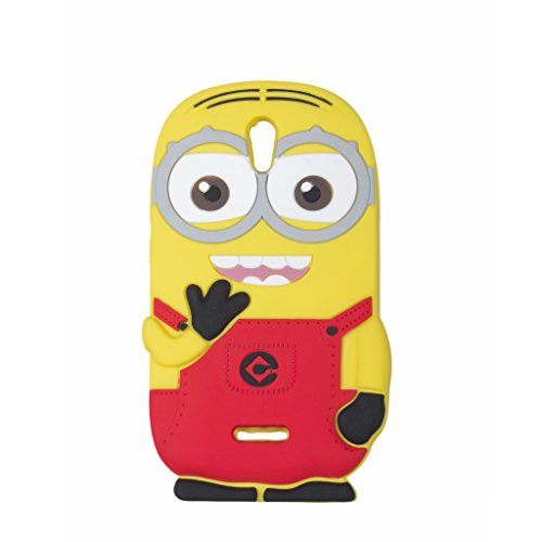 Double Eye Cute Despicable Me Minion Silicone Back Cover For Oppo Mirror 3 R3007  available at amazon for Rs.499