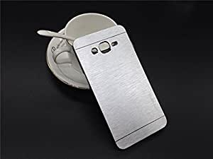 Motomo Premium Brushed Full Metal Protective Hard Back Case Cover For Samsung Galaxy Grand Prime SM-G530 - Silver