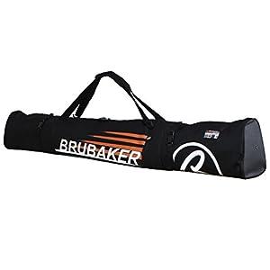 BRUBAKER 'Carver Champion' ski borsa sacca da ski imbottita con cerniera nero arancione 190 cm