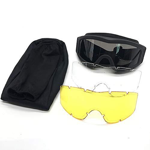 MPNP Motorrad-Brillen, Brillen im Außenfeld Winddichte Taktische Spektakel Spottacle-Armee-Fan-Brille Schießen Cabrio-Objektive können mit Kopf mit Brille ausgestattet Werden,C