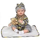 Homesave Reborn Baby Doll Lebensechte Babypuppen Simulation Silikon Cute Boy Blue Eyes Weihnachten