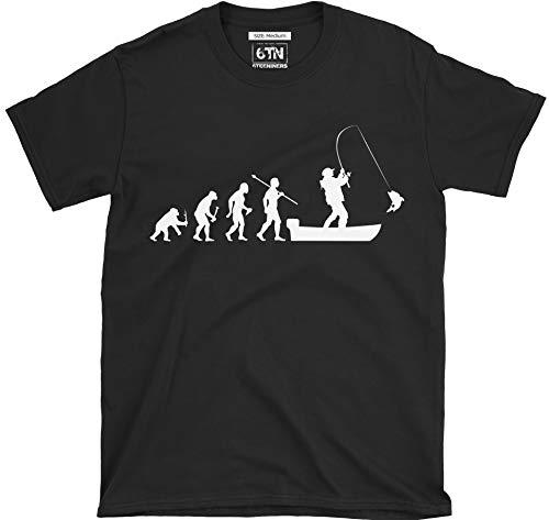 6TN Evolution des Mann Boot Angeln T-Shirt - Schwarz, XX-Large -