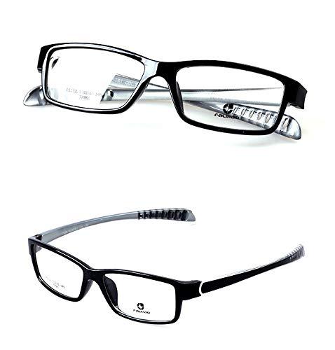 LKVNHP Hochwertige Clip Auf Polarisierte Sonnenbrille Männer Sport Style Sonnenbrille Mit Doppelter Linse Anti Glare Uv400 Myopie Brillen Für Mann Rahmen Und Eine Linse Graue Schläfe
