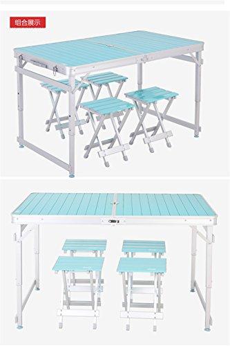 Picknick-tisch-kit (MONEYY CTD Aluminium Legierung Klappstühle kit Split Werbung Outdoor Picknick Tische Portable 118 * 70 * 52/62/73 cm)