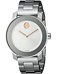 amazon co uk movado watches movado women s 3600084 bold stainless steel bracelet