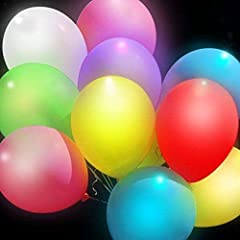 Idea Regalo - Colleer 15 Pz Palloncini Colorati con Luce LED Balloons Luminoso Party, Compleanni, Matrimoni, Decorazione