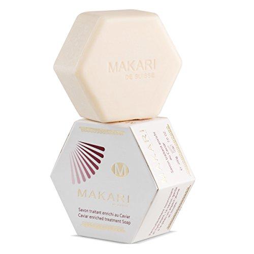 Makari Classic Kaviar angereicherte Behandlung Seife 7.0 Unze - Feuchtigkeitsspendende & Aufhellung Bar Seife für Gesicht & Körper - Anti-Aging Cleanser Gegen Trockenheit, Falten & Verunstaltungen -