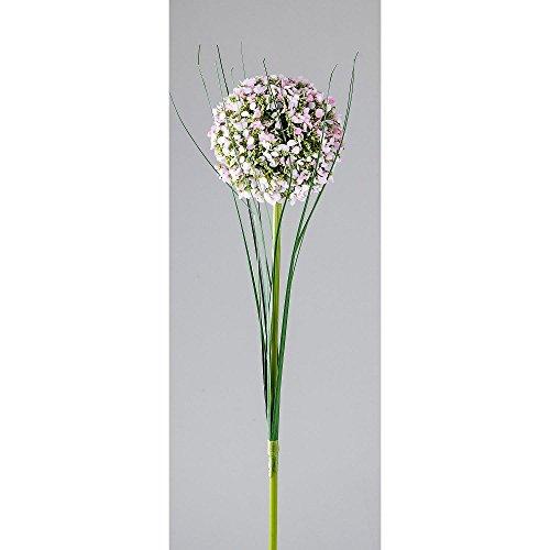 Formano Künstlicher Kugelzweig Kunstblume Allium, H. 55cm, D. 8,5cm Weiß Rosa