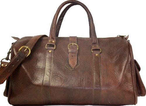 """Gusti Cuir nature """"Robin"""" sac de voyage en cuir bagage à main bagage cabine sac de sport sac en bandoulière sac en cuir besace cabas en cuir Sac porté épaule R9"""