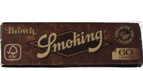 Unbekannt Zigarettenpapiere, Papers, King Size & Slim Long Papers, Filter & Filtertips (Smoking Regular Brown - Kurz (à 60 Papers), 1 Heftchen)