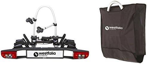 Westfalia Fahrradträger BC 60 für die Anhängerkupplung inkl. Tasche | Kupplungsträger für 2 Fahrräder | zusammenklappbar & E-Bike geeignet | erweiterbar auf Radträger für 3 Fahrräder | 60 kg Zuladung | universal