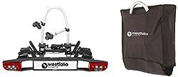 Westfalia-Automotive 350030900008 Fahrradträger BC 60 (Alte Version) für die Anhängerkupplung inkl. Erweiterung für ein 3. Rad