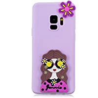 HopMore Funda Samsung Galaxy S9 Plus Silicona Motivo 3D Divertidas TPU Gel One Piece Kawaii Original Ultrafina Slim Case Antigolpes Caso Protección Flexible Cover Design Gracioso para Samsung S9+ / S9 Plus - Niña Púrpura