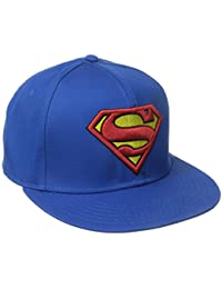 DC Comics Superman Embroidered Logo Mens Blue Snapback Baseball Cap