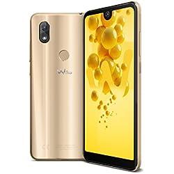 Wiko View2 Smartphone Portable débloqué 4G (Ecran: 6 pouces - 32 Go - Double Nano-SIM - Android) Or