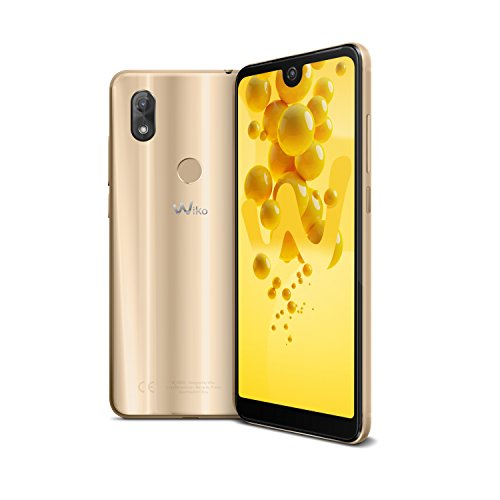 Wiko View 2 Smartphone (15,2 cm (6 Zoll) Bildschirm, 32GB interner Speicher, Android 8 Oreo) gold