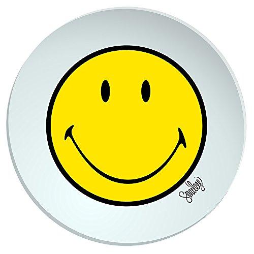 Zak Designs 6662-0325 Smiley-Assiette Creuse 20 cm Jaune/Blanc, Mélamine, 45x35x25 cm