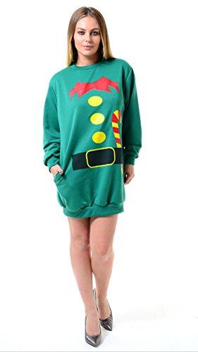 Momo&Ayat Fashions -  Felpa  - Donna Green - Santa Helper