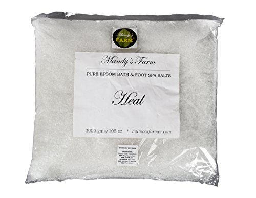 Mandy\'s Farm 3 Kg Healing Epsom Bath & Foot Spa Salts - Salon/Spa Size Refill Pack