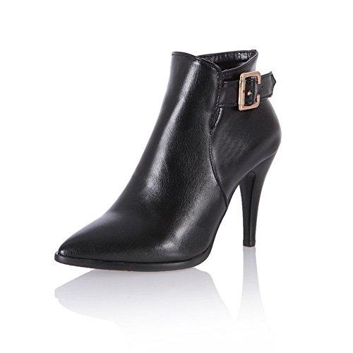 BalaMasa ,  Damen Biker Boots, schwarz - schwarz - Größe: 34