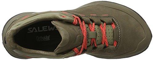 Salewa Wander Hiker Leder Halbschuh, Chaussures de Trekking et Randonnée Femme Multicolore (Other Nut/hot Coral)