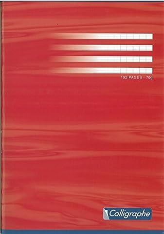 Calligraphe 7498c Cahier piqué 192 pages grand carreaux 24 x 32 papier 70 g - Coloris aléatoire