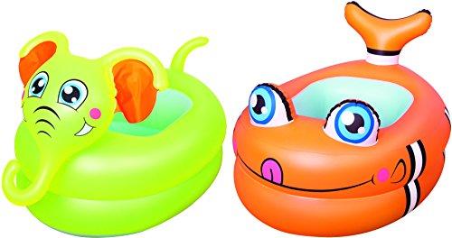 Bestway 51125, Bagnetto Baby Animali con Fondo Gonfiabile, Modeli assortiti