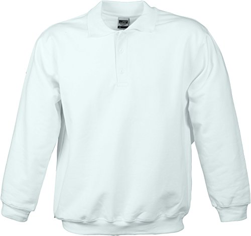 James & Nicholson – Polo da Sweat Heavy Felpe bianco