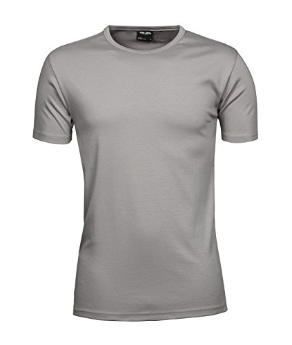 TJ520 Mens Interlock Bodyfit T-Shirt Stone