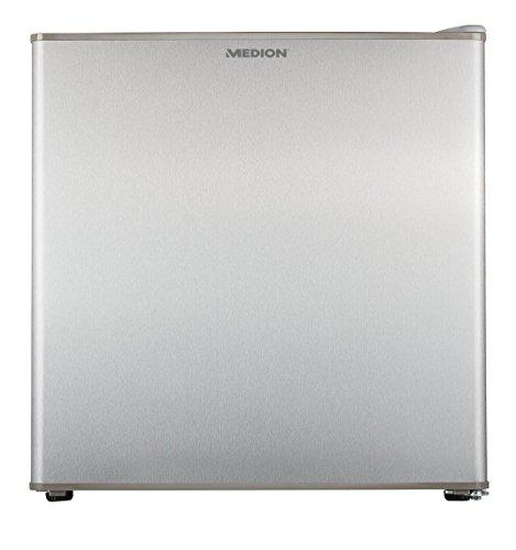 MEDION MD 37115 Mini-Kühlschrank mit Kühl-und Gefrierteil, Wechselbarer Türanschlag, EEK: A+, silber [Energieklasse A+]