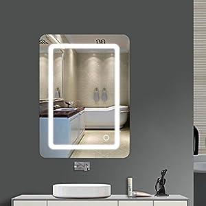 MUPAI LED Badspiegel Lichtspiegel Wandspiegel beleuchtet mit 1M Netzkabel 9W