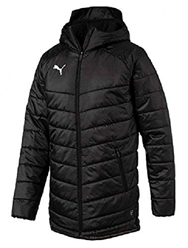 PUMA Men's LIGA Sideline Bench Jacket, Black/White, Medium