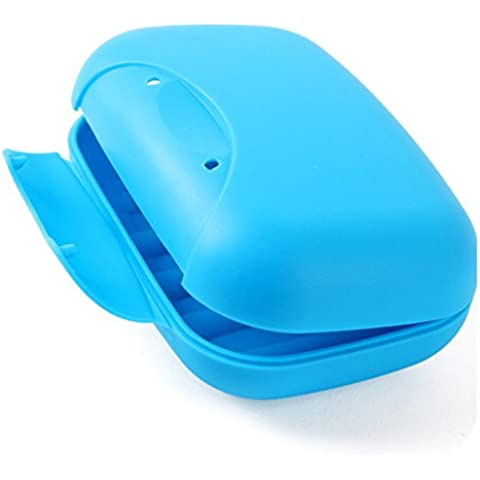 Pyrty (TM) Caso Bagno piatto del piatto di casa doccia viaggio escursionismo del contenitore di Soap Box (colore casuale)