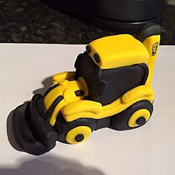Edible jcb digger cake topper decoration (5x4): Amazon.co ...